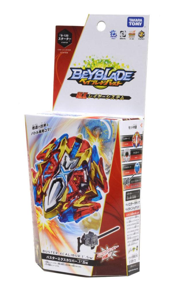 Beyblade burst B-120 buster excalibur 1' sword boite packaging takara tomy