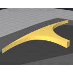 3d print model rail slingshock prostadium arène arena s-fight sfight spintop battle stadium beyblade side