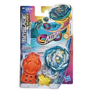 Beyblade Burst rise Hypersphere officielle Hasbro toupie Starter Pack Harmony Pegasus P5 lanceur à rotation droite-gauche boîte vue devant Spintop Battle