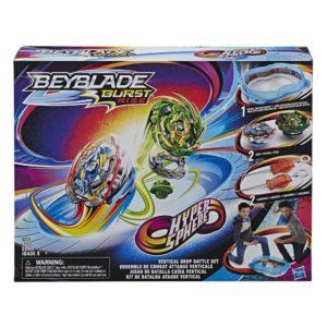 Beyblade Burst rise officielle Hasbro toupies Pack arène combat lanceur à rotation droite-gauche boîte vue devant Spintop Battle