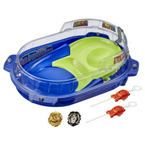 Beyblade Burst rise officielle hypersphere Hasbro toupies Pack arène combat Vortex vue devant Spintop Battle