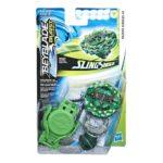 Beyblade Burst turbo slingshock officielle Hasbro toupie Starter Pack hazard kerbeus K4 lanceur à rotation droite-gauche boîte vue devant Spintop Battle