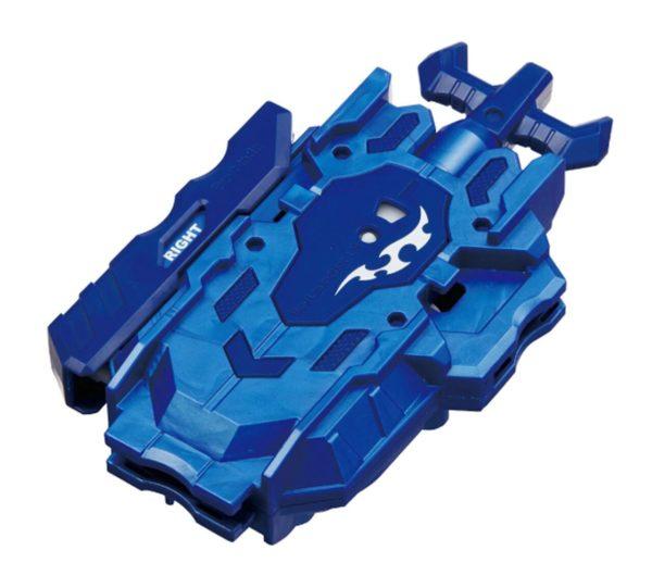 Lanceur Beyblade Burst Takara Tomy Superking b119 Bey launcher LR bleu devant vue face officielle Spintop Battle