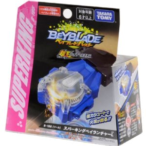 Lanceur Beyblade Burst Takara Tomy Superking b166 Bey launcher L Left Turning boîte devant vue face officielle Spintop Battle