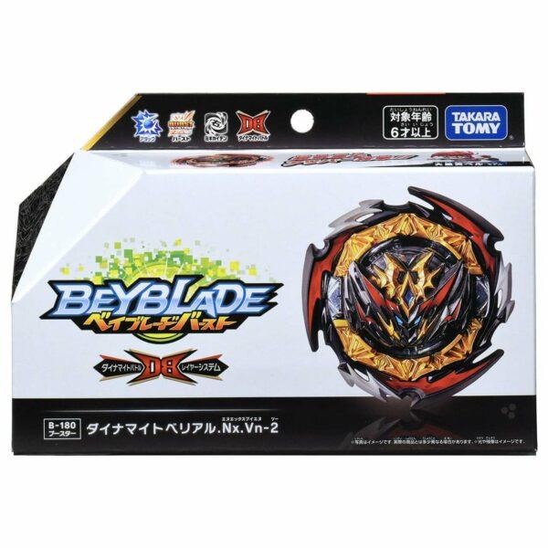 Toupie-Beyblade-Burst-Takara-Tomy-Dynamite-Battle B-180-Booster-Belial-Nexus-Venture-2-boîte-devant-vue-face-officielle