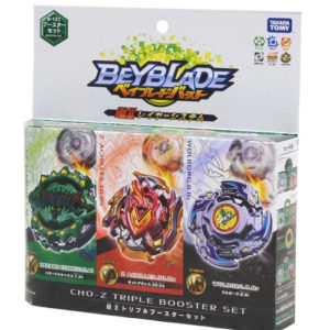 Toupie Beyblade Burst Takara Tomy Superking b121 cho-z triple booster set boîte devant vue face officielle Spintop Battle