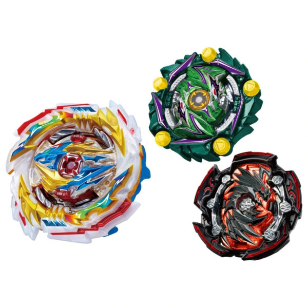Toupie Beyblade Burst Takara Tomy Superking b171 triple booster set devant vue face officielle Spintop Battle