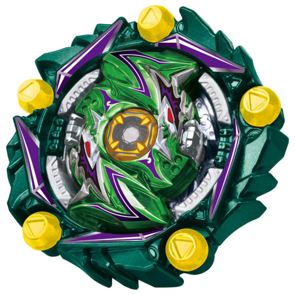 Toupie Beyblade Burst Takara Tomy Superking b171 triple booster set devant vue face officielle verte Spintop Battle